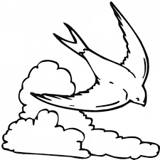The Clouds Is Sleeping Coloring Page