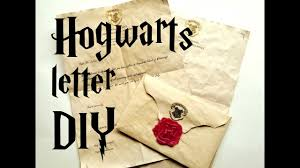 DIY Hogwarts Letter Harry Potter Tutorial YouTube