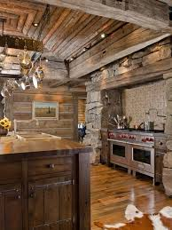 Village Style Ranch House Interior Design Ideas Sleek Montana Kitchen Wooden Floor Open Storage