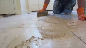 how to grout a tile floor youtube