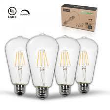 thinklux led filament candelabra bulb 5 watt 60 watt equal bullet