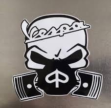Vespa Custom Skull Decal Sticker