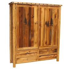 Barnwood 10 Gun Cabinet With Tree Carving Nailheads