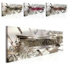 vlies leinwand bilder abstrakt 3d modern silber stahl