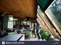 100 Self Sustained House An Earthship A House Made Of Recycled Tires Bottles And Cans