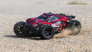 Traxxas Rustler 4X4 1/10-scale 4WD Stadium Truck (red) TRA67064-4 ...
