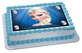 Frozen Elsa Face Edible Birthday Cake Topper OR Cupcake Topper Decor