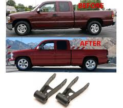 Rear Lowering Drop Shackles For 1999-2006 Chevrolet Silverado/GMC ... Truck Hdware Manufacturer Of Gatorback Mud Flaps Gatorgear Chevrolet Trailblazer Pickup Truck Accsories And Autoparts By 8898 Chevy Accsories Carviewsandreleasedatecom 2002 Silverado Unique Installation Of A Trailer Colorado Z71 Hurley Take Functionality To The Beach Gearon Accessory System Is Bed Party 2016 Trail Dictator Offroad Parts Gm Uftring Washington Il Youtube 2017 1500 Pin Brett Loomis On Midnight Edition