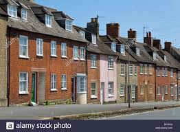 100 Bridport House Terraced Housing Dorset England Stock Photo