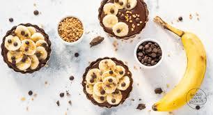 schoko bananen tartelettes backen macht glücklich