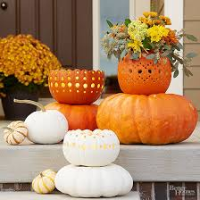 Pumpkin Carving W Drill by Pretty Front Entry Decorating Ideas For Fall Pumpkins Porches