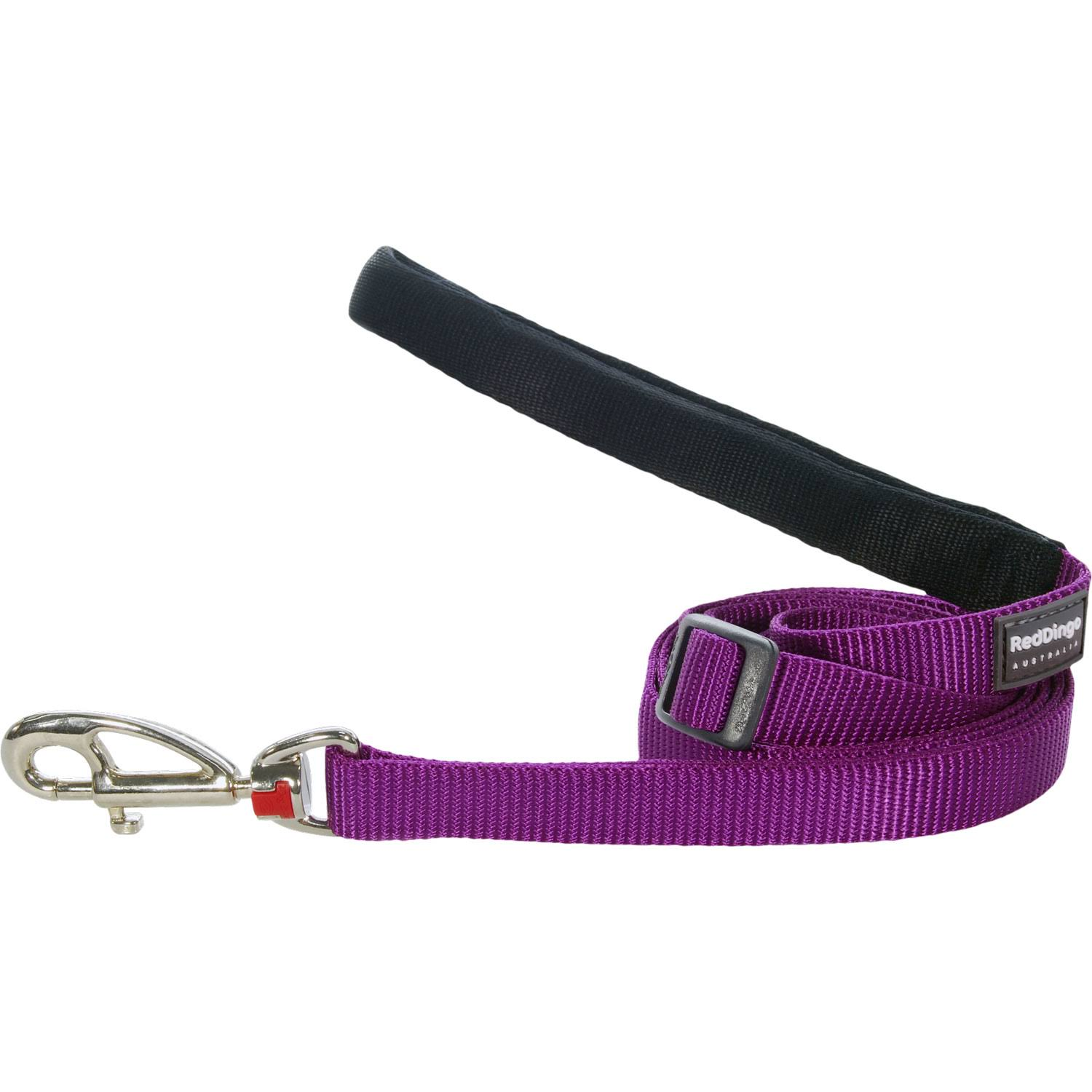 Red Dingo Classic Dog Leash - Purple, 15mm x 1.8m