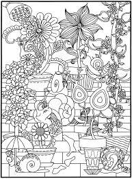 3 D Coloring Book Flower Power Doverpublishing