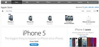line Apple Store Highlighting iPhone 5 Cases