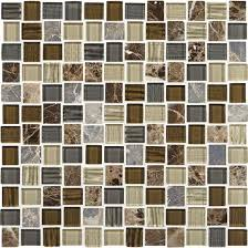 American Olean Porcelain Mosaic Tile by American Olean Entourage Marble Weave Mw08 Great Wall Blend 1