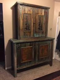Western Plains Barnwood Touch Of Turquoise Armoire Gun Cabinet