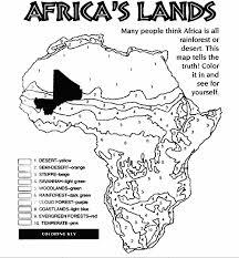 Africas Lands Color Page Afrika