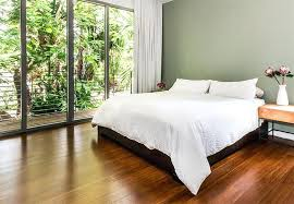 Flooring For Bedrooms Mid Tone Bamboo In A Master Bedroom Vinyl Laminate Wood