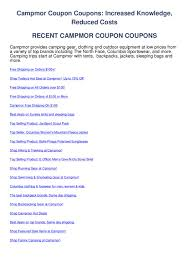 Campmor Coupon Coupons By Discount Codes - Issuu
