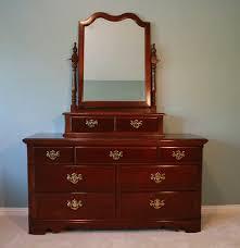 Antique Birdseye Maple Dresser With Mirror by Impressions By Thomasville Dresser With Mirror Ebth