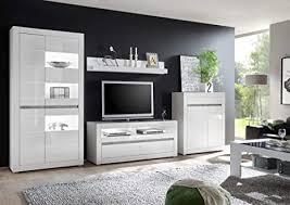 newfurn wohnwand anbauwand modern wohnzimmerschrank wohnlandschaft mediawand fernsehschrank ii 350x198x 35 42 cm bxhxt ii finn six concept in