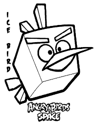 Space Angry Birds Coloring Pages For Kids