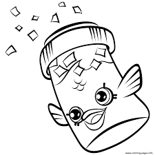 Fish Flake Jake Petkins Shopkins Season 4 Coloring Pages Printable And Book To Print For Free Find More Online Kids Adults