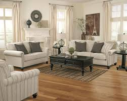 signature design by ashley milari linen transitional sofa with
