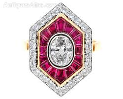 deco ruby and ring antiques atlas ruby and deco ring c1930 40s