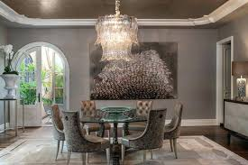 Transitional Dining Room Chandeliers Style Revival Formal
