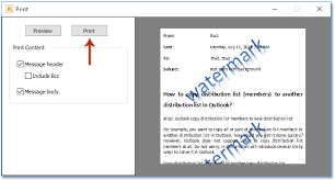 1 In The Print Dialog Box Please Click Preview Button