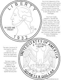 US Quarter Coloring Page Printout