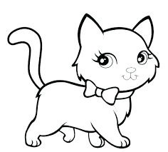 Kitten Coloring Pages Puppy Dogs For Adults Free And