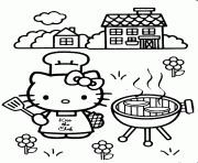 Printable Hello Kitty As A Cook 94b2 Coloring Pages