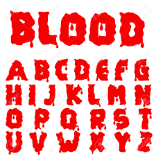 Red Blood Alphabet Bloody Font Royalty Free Cliparts Vectors And