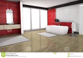 badezimmer mit roten granit fliesen stock abbildung