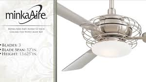 Ceiling Fan Balancing Kit Singapore by Minka Aire F601 Acero 52 Inch Ceiling Fan With Light Kit Youtube