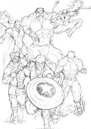Bulk Marvel Super Hero Coloring Pages Superhero Free Printable Book Squad