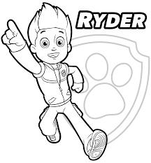 PAW Patrol Ryder Coloring Page