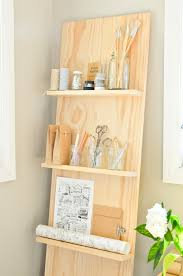 make your own leaning shelf system with this stylish diy diy