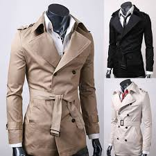 long overcoat outwear double breasted trench coat winter men u0027s