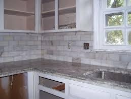 white marble backsplash 10 subway tile idea 5 vadecine info
