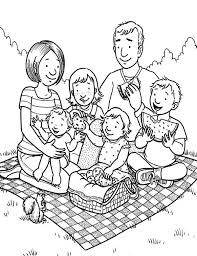 Family Coloring Page Art Galleries In Pages Of A
