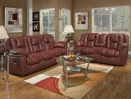 Transitional Living Room Sofa by Burgundy Leather Transitional Living Room W Recliner Mechanism