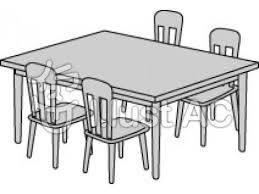 Furniture Clipart Dinner Table 1