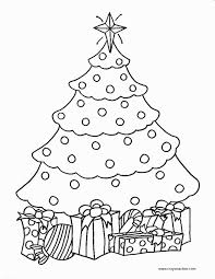 Cute Tree Coloring Pages Christmas