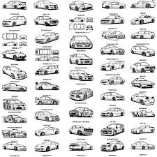 JDM Colouring Book Full List Of Cars Featured
