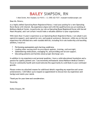 Cover Letter Nursing Examples Uk Healthcare Operating Room Registered Nurse Emphasis