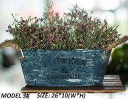 2018 Pack Rustic Flowers Garden Bucket Design Mini Small Metal