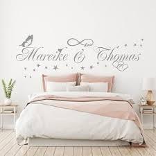 wandtattoo unendlichkeit zwei namen nach wunsch herz wandaufkleber schlafzimmer wandtatoo